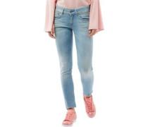 Lynn Mid Skinny Jeans Hellblau