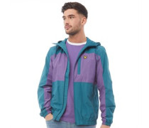 Colour Block Jacke Blaugrün