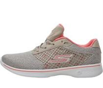 GOwalk 4 Exceed Sneakers Taupe/Korallenrot