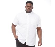 Übergröße Oxford Hemd mit kurzem Arm