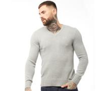 Europa Pullover mit V-Ausschnitt Hellmeliert