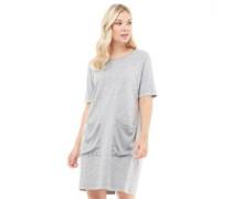 Womens Cia T-Shirt Dress Light Grey Melange