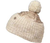 Womens Foil Print Beanie Cream