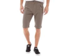 Rolled Hem Cargo Shorts Grau