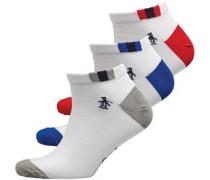 Drei Pack Sneaker Socken