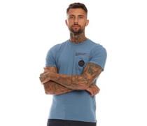 Valtos T-Shirt Schieferblau