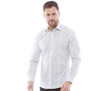 Formal Druck Hemd mit langem Arm Weiß
