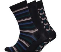 Air Prince Drei Pack Socken Schwarz