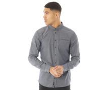 Hemd mit langem Arm Schieferblau