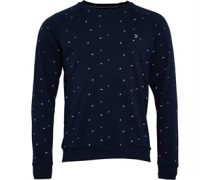 Stour Flag Druck Sweatshirt Navy