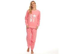 Druck Pyjama Pink