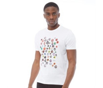 Pin Badge T-Shirt Weiß