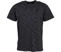 Gestickt Logo T-Shirt Schwarzmeliert