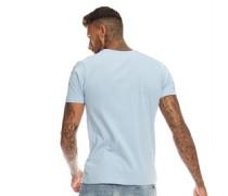 Kalk T-Shirt Himmelblau