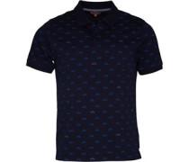 Scooter Print Polohemd Blau