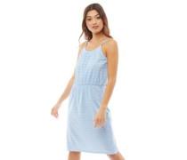 Tile Druck Kleid Hellblau