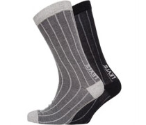 Birdseye Socken Grau