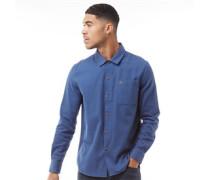 Lindner Gebürstetes Baumwolle Hemd mit langem Arm Mittel