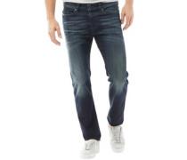 Buster 0853V Jeans mit zulaufendem Bein Verblasstes Dunkel