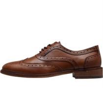 Brogue Schuhe Dunkelbraun