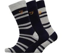 Falton Drei Pack Socken Navy
