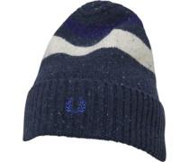 Tipped Beanie Mütze Blaumeliert