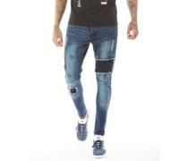 Sarnen Skinny Jeans Verblasstes Dunkel