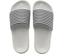 Gestreift Slider Sandalen Weiß