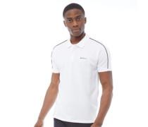 Pique Polohemd Weiß