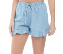 Chambray Shorts Blau Chambray