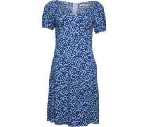 Druck Kleid Blau