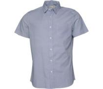 Druck Hemd mit kurzem Arm Weiß