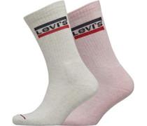 120Sf Sportswear Logo Zwei Pack Socken Rosameliert