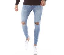 Mayweather Ripped Skinny Jeans Verblasstes