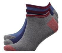 Blue Cracker Drei Pack Sneaker Socken Navy