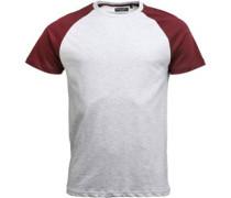 Mens Baptist T-Shirt Ecru Marl/Burgundy
