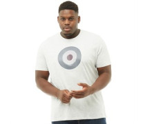 Übergröße Check Target T-Shirt meliert
