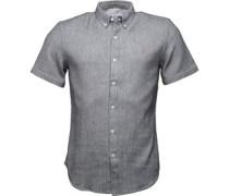 Mens Ingleton Slim Fit Short Sleeve Shirt True Navy