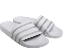 adilette Slides Sandalen Weiß