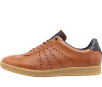 Mens Orlee Leather Trainers Tan
