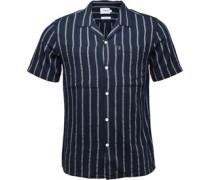 Mens Robbins Casual Short Sleeve Shirt True Navy