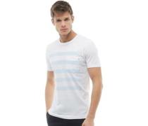 5 Gestreift T-Shirt Weiß