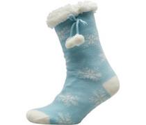 Schnee Hüttenschuhe Hellblau