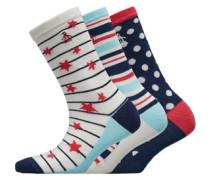 Drei Pack Socken Navy