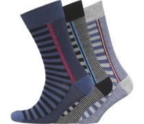 Morston Drei Pack Socken Grau