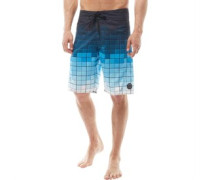 Mens Printed Board Shorts Blue/White