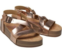 Milli Wedge Sandalen Rosa-Gold