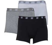 Mens Three Pack Trunks White/Black/Grey