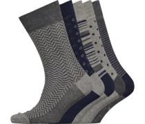 Fünf Pack Socken Mehrfarbig