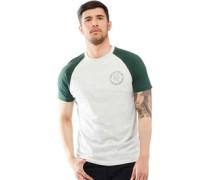Mens Everest Raglan T-Shirt Ecru/Bottle Green